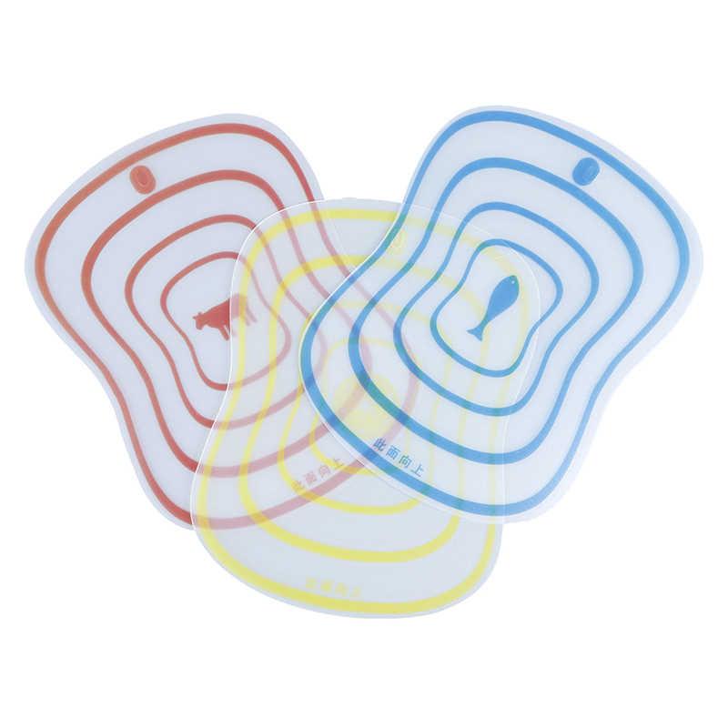 4 Pcs Não-slip flexível Placa de cozinha acessórios de cozinha dispositivo Carne Cepo Placa De Corte Legumes Fruta cozinha ferramenta
