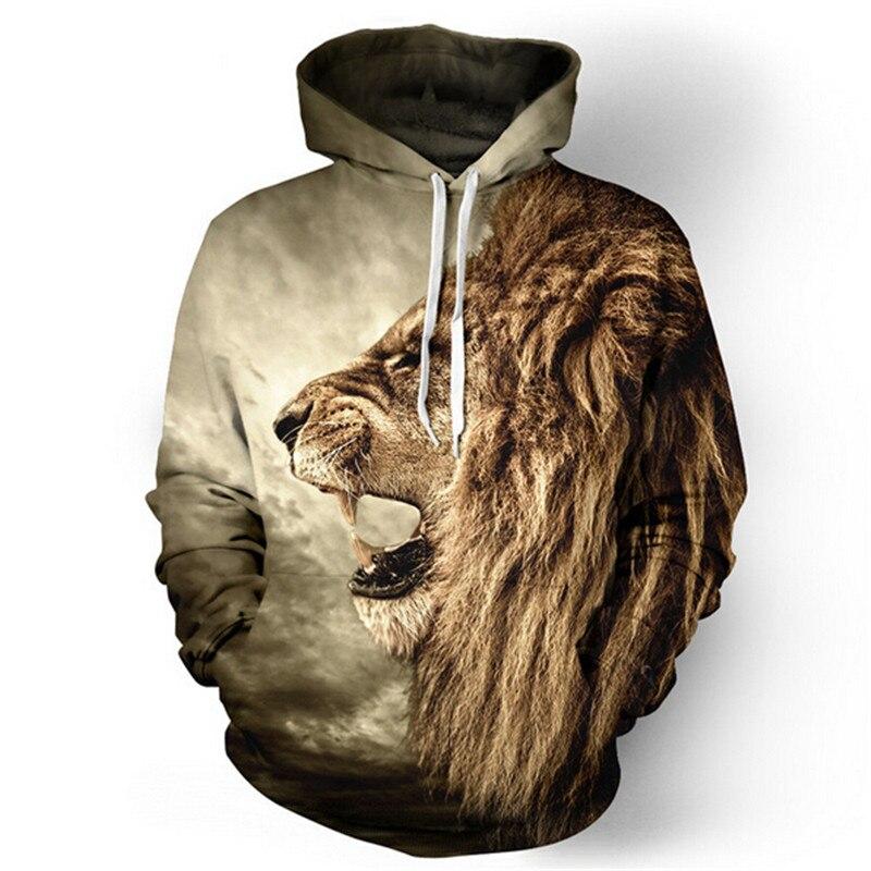 3D gyvūnų atvaizdais džemperis su kapišonu