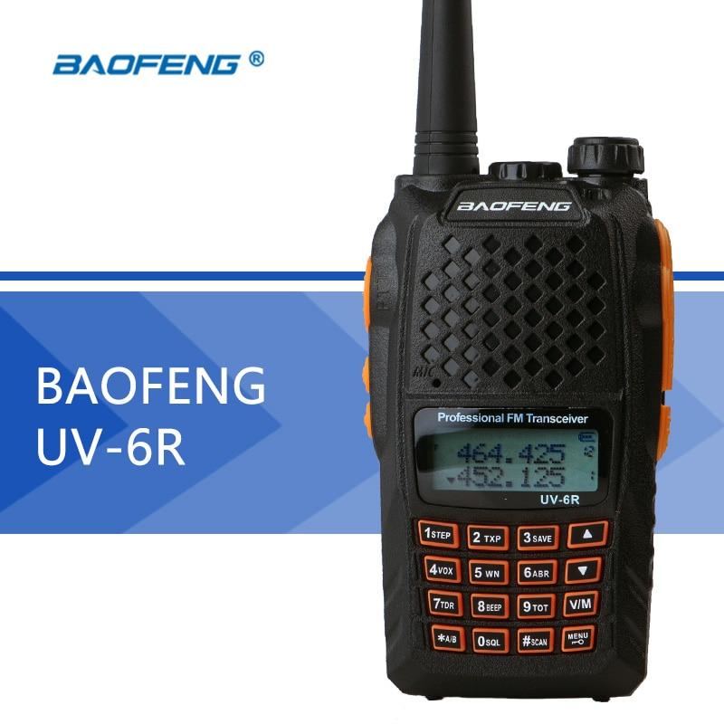 Baofeng UV 6R Walkie Talkie UHF VHF Dual Band UV 6R CB Radio UV 5R Upgraded