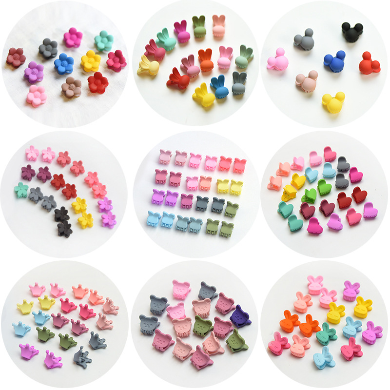 20 PCS/Set Korean Hair Claws Hair Accessories Girls Hairpin Small Flowers Hair Clips Bangs For Children Random Colors