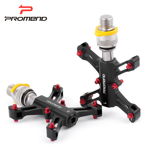 Promend EZY QR bicycle pedal 9/16 bmx mountain bike pedals alu mtb 3 bearings road exercise bike pedal X ultralight 225g 300g