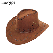 16621cf814084 Western Cowboy Hats for Men Women 2018 New Arrival Fashion Tourist Caps for Kid  Boys Gilrs · 5 Colors Available
