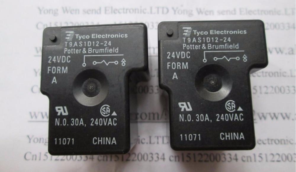 HOT NEW 24V relay T9AS1D12-24 T9AS1D1224 T9AS1D12-24VDC 24VDC DC24V 24V 30A 240VAC 4PIN g5nb 1a e 24vdc g5nb 1a 24vdc