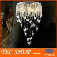 Best Price Modern Fashion Round Crystal Lamp Living Room Light Creative Angel Crystal Light LED Crystal Ceiling Light