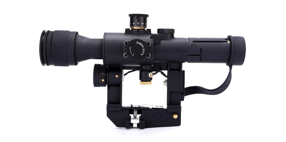 Pistolet PHANTOM Svd Rouge Illumination Chasse AK Sniper Dragunov Lunette De Visée 4x26 SVD Arme télescope Vue Pistolets À Air de Tir