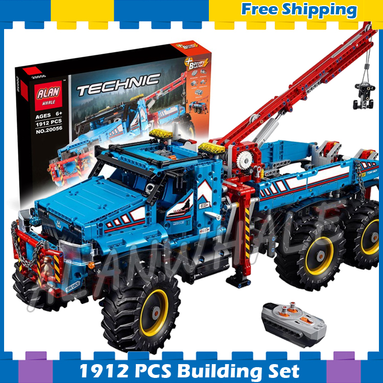 1912pcs 2in1 Techinic 6x6 All Terrain Tow Truck Research Explorer Vehicle 20056 Model Building Blocks Gifts Compatible With lego 720pcs techinic 2in1 motorized container