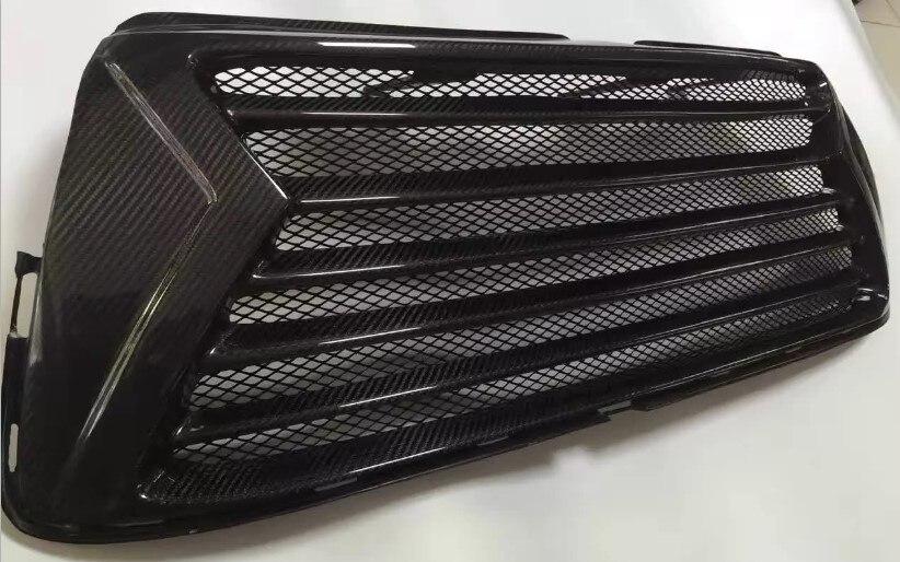 For 2015 Toyota Highlander Auto Front Mesh Grille Racing Grills Carbon Fiber 1pcs
