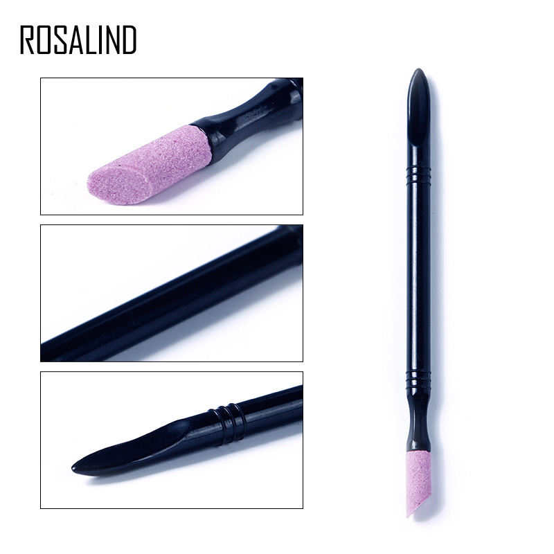 ROSALIND 1PCS Nail File Gel Professional Cuticle Remover Trimmer Buffer Pedicure Manicure Stone Care Tools Makeup Nail File Pen 4pcs durable nail file cuticle remover trimmer stone glass buffer nail art manicure device tool random color