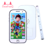 4D Baby Musical Learning Figures Interactive Electronic Kids Toys For Children Educational Flash Mobile Phone Toy