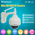 C7833 VSTARCAM Onvif Pan Tilt Dome Ao Ar Livre Câmera IP HD 720 P Sem Fio Wifi Onvif RSTP Apoio Fluxo 128G o Cartão Do TF
