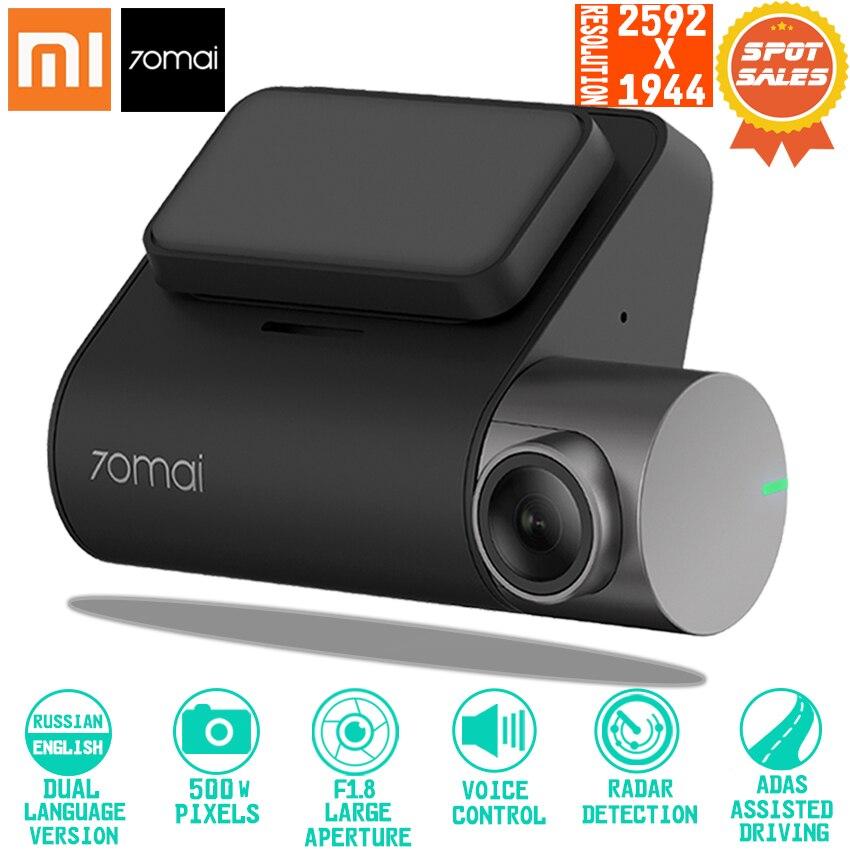 Xiaomi 70mai регистраторы Pro Smart Car 1944 P HD видео запись с gps ADAS Wi Fi функция 140 FOV Камера Английский Голос управление