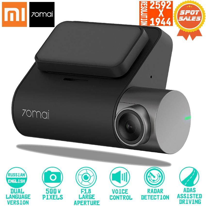 Xiaomi 70mai Dash Cam Pro Smart Voiture 1944 P HD Enregistrement Vidéo Avec GPS ADAS WIFI Fonction 140 FOV Caméra anglais Voix Contrôle