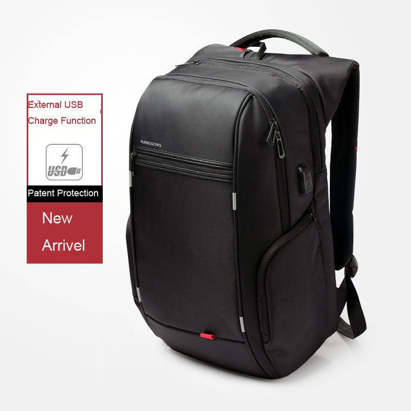 Kingsons Men Usb Charge Computer Bag Anti-theft Notebook Backpack 13 15 17 Inch Waterproof Laptop Backpack Women School Bag #2