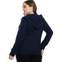 Women's Plus Size Zip Up Slim Hooded Jacket