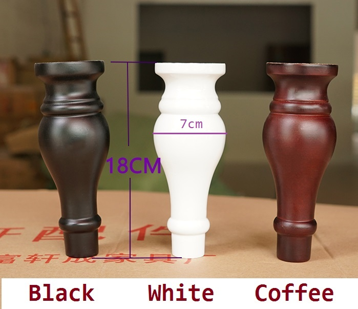 2Pcs/Lot Dia78*H180mm Solid Wood Sofa Cupboard Cabinet Furniture Leg Legs Feet Plate,Scr ...