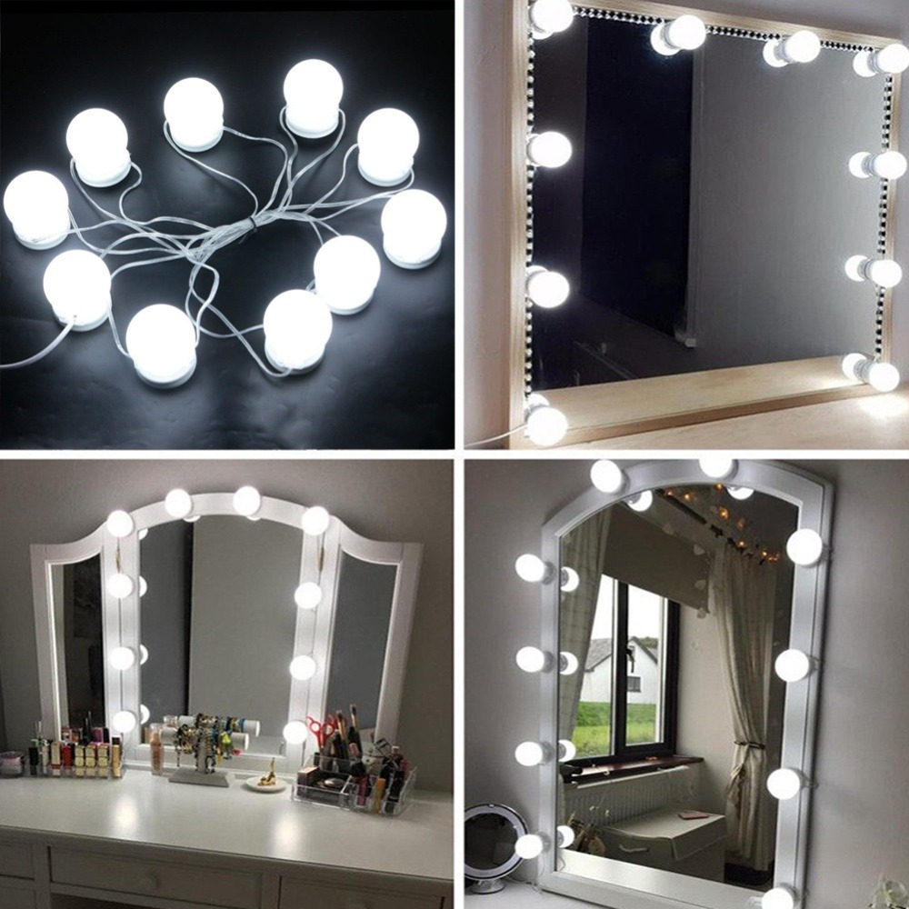 Hot Sale New Hollywood Style Led Vanity Mirror Lights Kit Bulbs Hide Wiring Light The Spinning Contraction Of