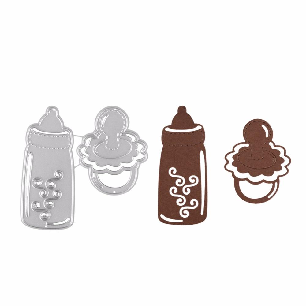 Metal Steel Cutting Dies Stencil Baby Feed Bottle For DIY Scrapbook Paper Card Embossing Die Template Decor Craft New