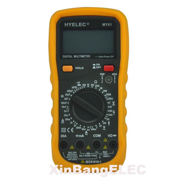Digital Multimeter w/ Capacitance & Transistor Test Analog Multimeter LCR Meter Ammeter Multitester meter ut61a transistor resistance digital capacitance measurement test three and a half