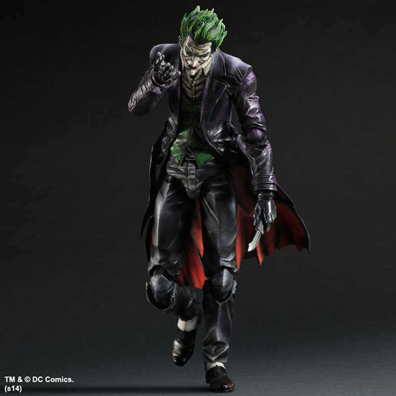 Jogue Arts KAI Batman Arkham Origens NO. 4 The Joker PVC Action Figure Collectible Modelo Toy 26 cm KT3932
