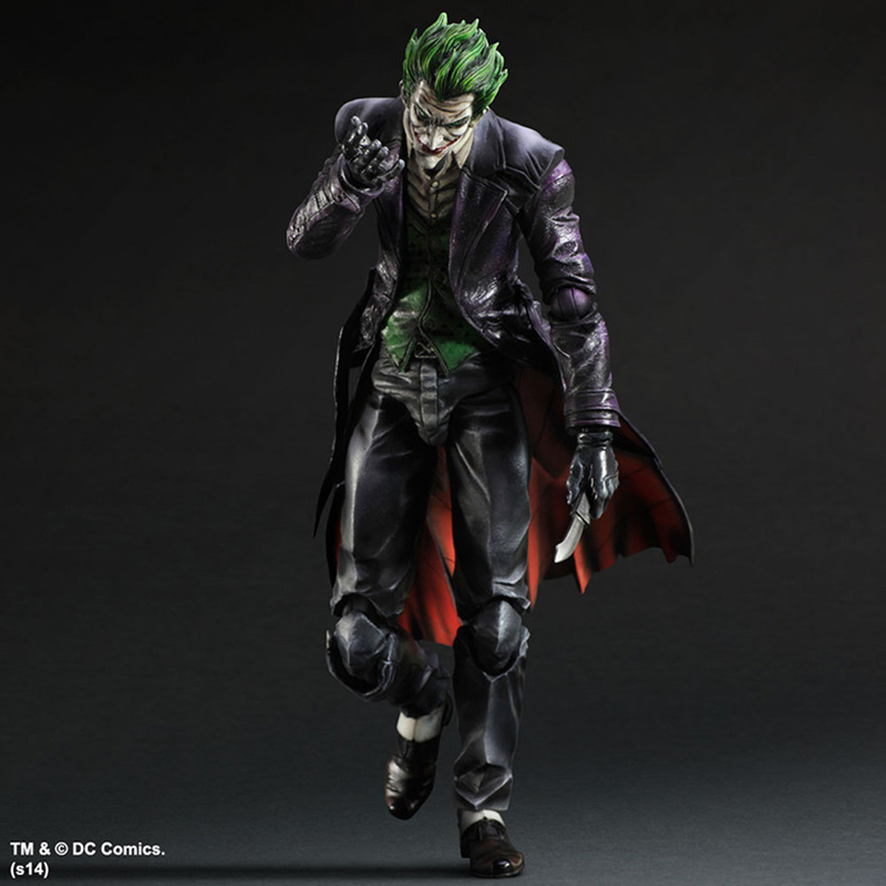 Play Arts KAI Batman Arkham Origins NO.4 The Joker PVC Action Figure Collectible Model Toy 26cm KT3932 play arts kai street fighter iv 4 gouki akuma pvc action figure collectible model toy 24 cm kt3503