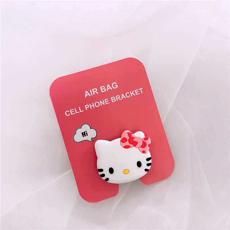 الحصول على Um الجملة المقبس العالمي الهاتف المحمول تمتد قوس الكرتون الهواء حقيبة الهاتف توسيع حامل هاتف الاصبع حامل هاتف