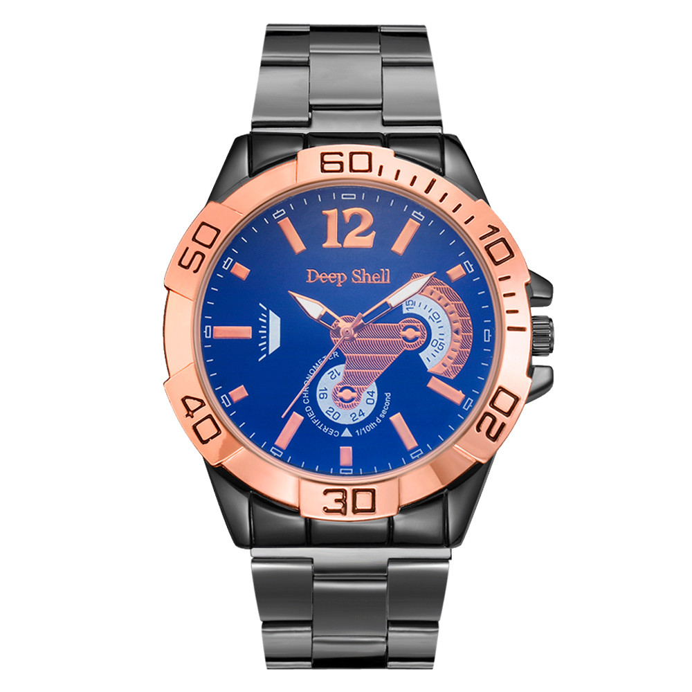 2017 Luxury Stylish Fashion Men Crystal Stainless Steel Analog Quartz Wrist Watch Bracelet Dropship Y117* weide wh 2303 stylish stainless steel men s analog quartz wrist watch silver blue 1 x cr2016