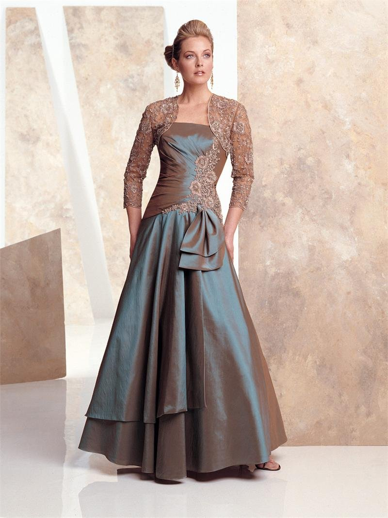 PE100 Jacket+strapless Appliqued Taffeta Prom Dress Formal Dress Gowns Bridesmaid Gown Customize ...