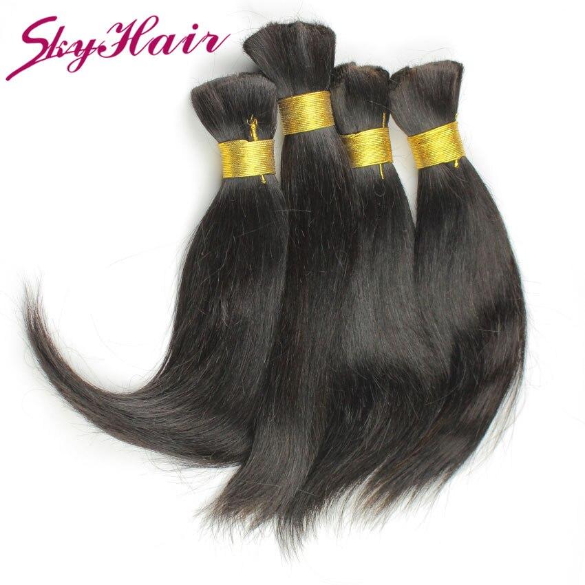 malaysian virgin straight human hair for braiding bulk no attachment 1pcs lot 100g/pc 6a grade human braiding hair bulk no weft