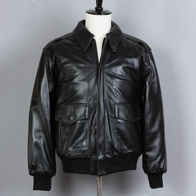 2019 модная мотоциклетная куртка свободная из натуральной овечьей кожи Мужская