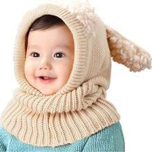 Invierno Caliente Venta caliente bebé niños niño chica más nuevo estilo  lindo sombrero con capucha bufanda gorro de lana de punt. a5ee14d96f2