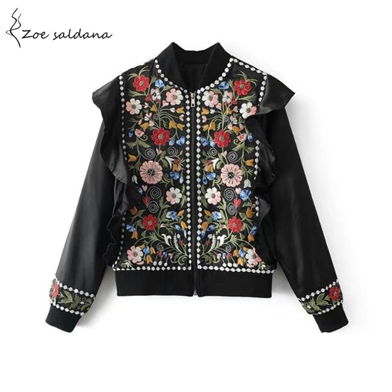 Zoe Saldana 2018 Women Chic Vintage Flor