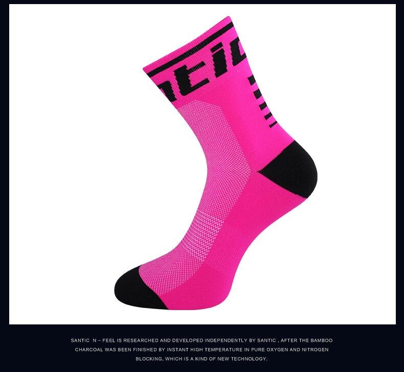 HTB1Xv58gCtYBeNjSspaq6yOOFXa2 - Santic Sport Cycling Socks Breathable Anti-sweat Basketball Socks Running Hiking Men Socks