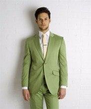 New Style Mens Suits Groomsmen Notch Lapel Groom Tuxedos Olive green Wedding Best Man Suit (Jacket+Pants+Tie) B661