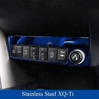 Stainless Steel Light Switch Botton Cover for Toyota RAV4 2016 2017 Power Port Cover