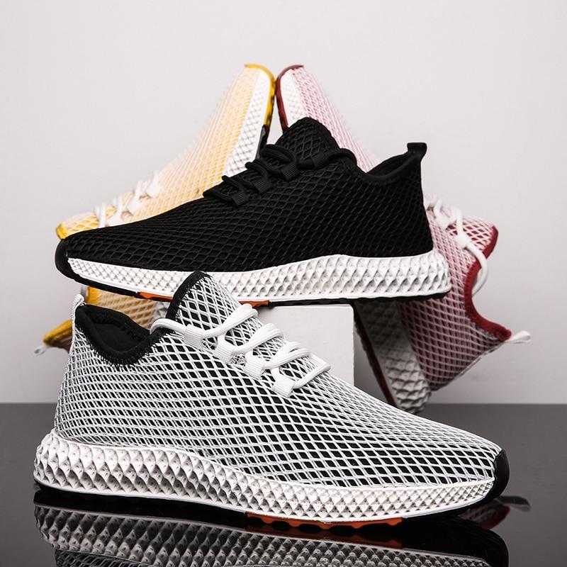 Shoe Sneakers Vulcanized-Shoes Flats Mesh Summer Breathable Men