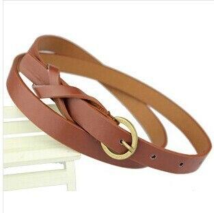 Thin PU Leather   Belt   Female Red Brown Black White Yellow Waist   Belts   Women Dress Strap cinturon mujer cinto feminino cinturones