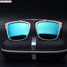 Hong Teng New Arrivals High Quality Lens Polarized Sunglasses Fashion Men Colorful Glasses Alloy Frame with Box