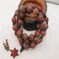 Tibetan beads Bodhi seeds prayer beads Carved dragon and phoenix  Buddha pendant wholesale New arrived 54x18mm ib3433