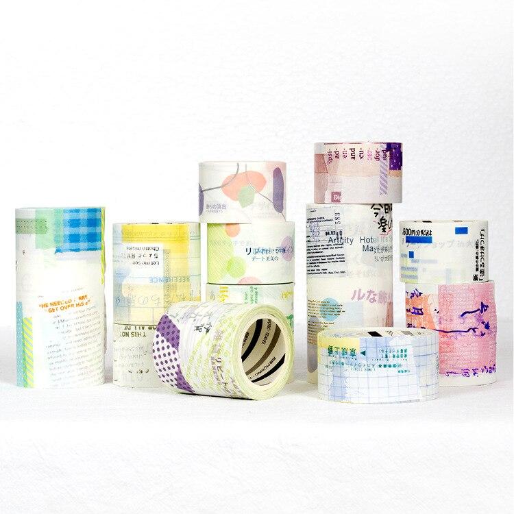1 stks/partij DIY Japanse Papier Washi Masking Tapes Yu Bai bronzing decoratief plakband stickers/Schoolbenodigdheden
