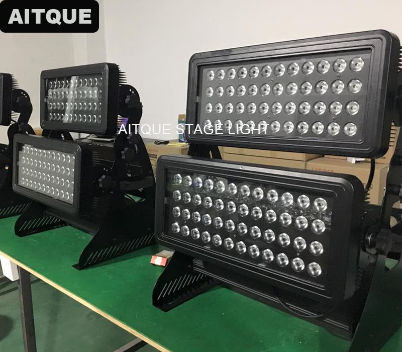 10lot Waterproof outdoor led lights wall washer led light exterior wall 96x10w rgbw 4in1 led outdoor city color ip65