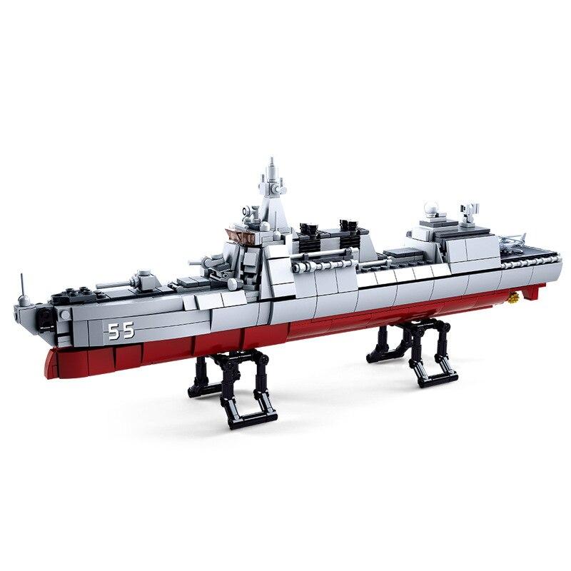 618pcs Children s building blocks toy Compatible city military Destroyer figures Bricks boy best birthday gifts
