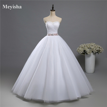 ZJ9084 fashion Beads Crystal White Ivory Wedding Dresses for brides plus size maxi formal sweetheart