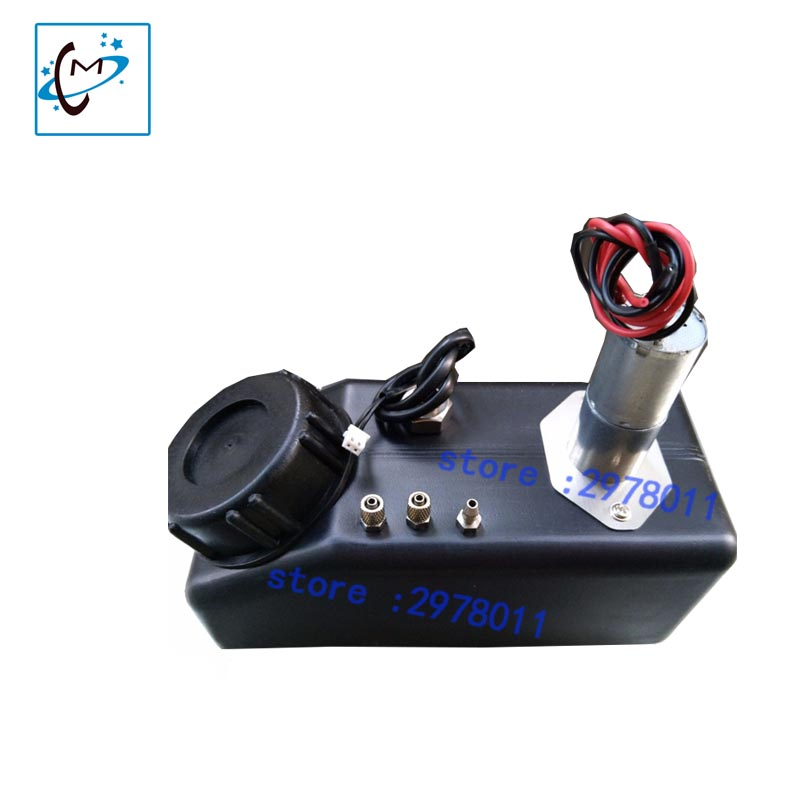 High quality !!! bulk ink system adapter with liquid sensor and air filter with stirring motor spare part large format printer uv flatbed printer 1l ink bottle with air filter with liquid sensor 1l ink sub tank bulk ink system with stirring motor part
