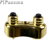 Brass Motorbike 1 or 7/8 Custom Dual Handle Bar Push Button Switches Kit for Harley Touring Dyna Cafe Racer Old School