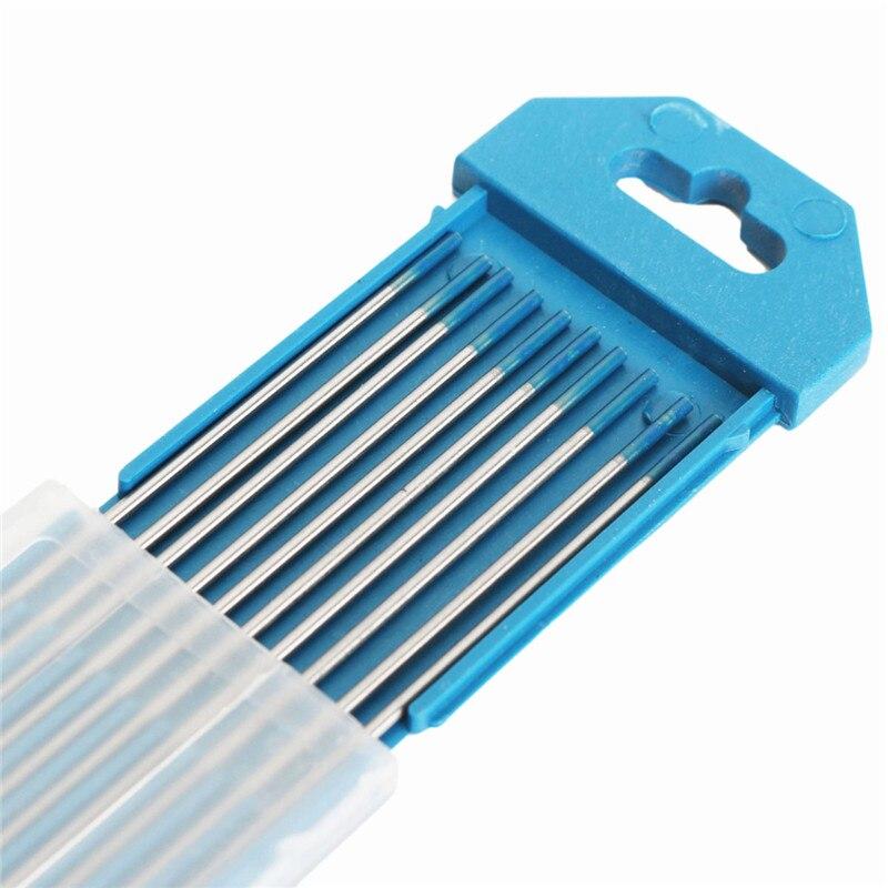 Pcs de Tungstênio Melhor Preço – 16 x7 Polegadas 2% Lanthanated Eletrodo Tig Ponta Azul 1.6mm x 175mm 10 Wl20 1