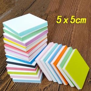 Image 1 - 5*5cm plac grawerowanie gumka znaczek dla majsterkowiczów 10 sztuk/partia kolorowe 3 warstwy dobrej jakości szkolne i biurowe