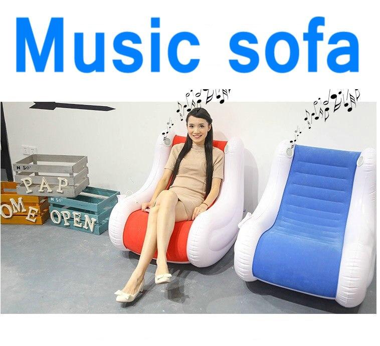 Zitzak Met Muziek.Klinkende Opblaasbare Zitzak Stoel Air Zitzak Sofa Muziek