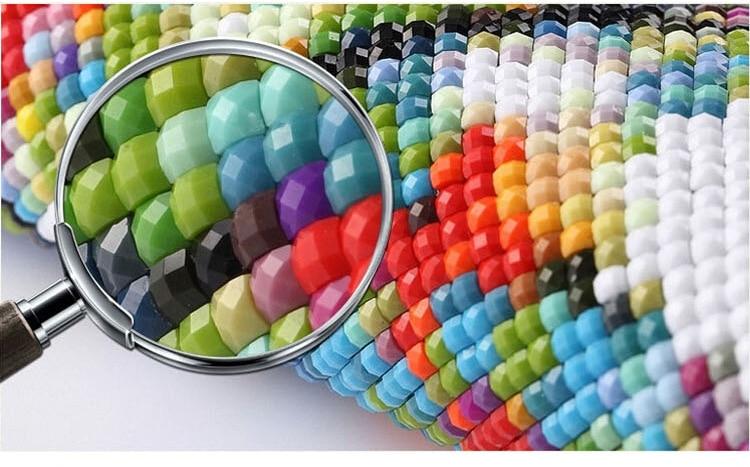 Új mozaik teljes gyémánt festmény hímzés gyöngyök Gyönyörű - Művészet, kézművesség és varrás - Fénykép 4