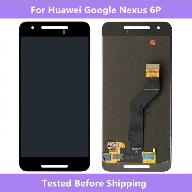 """For Huawei Nexus 6P Black LCD Display Touch screen Digitizer Assembly Replacement For Huawei Google Nexus 6P 5.7"""" Full screen"""