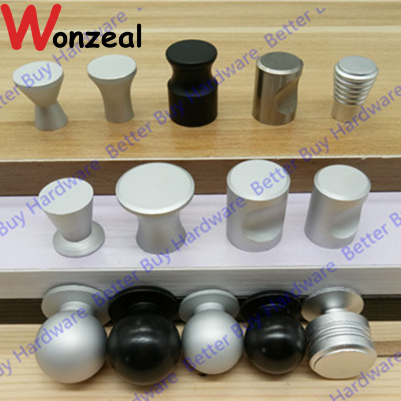 Various size/Shape  Small Single Knob of space aluminum material drawer pull For Kitchen cupboard Furniture bedroom Cabinet door 10pcs kitchen furniture pull pumpkin shape pastoralism ceramic knob various color single hole knobdrawer knob dia 40mm